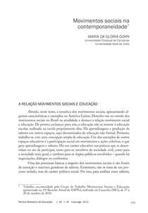HISTORIA MOVIMENTOS SOCIAIS