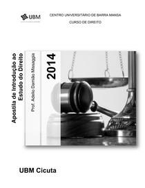 Apostila de Introdução ao Estudo do Direito - Prof. Damião