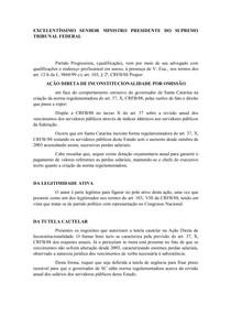 AÇÃO DIRETA DE INCONSTITUCIONALIDADE POR OMISSÃO   aula 9   pratica V