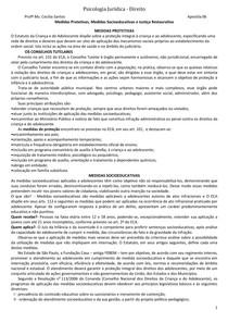 Psicologia Jurídica - Aula 06 - Justiça Restaurativa e Medida Socioeducativa