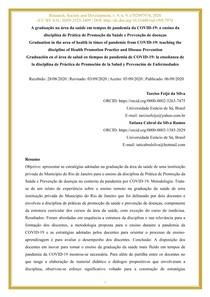 08 A graduação na área da saúde em tempos de pandemia daCOVID-19 o ensino da disciplina de Prática de Promoção da Saúde e Prevenção de doenças