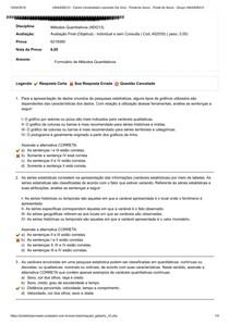 UNIASSELVI   Metodos Quantitativos Prova 3.ADM