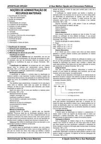 Apostila Administração de Materiais concurso Polícia Federal