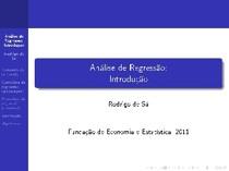 Regreção Linear- Economia - Econometria