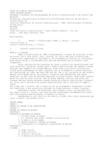 CELSO RIBEIRO BASTOS - CURSO DE DIREITO CONSTITUCIONAL