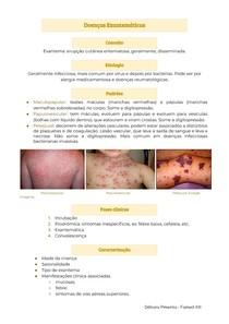 Doenças Exantemáticas - Sarampo, escarlatina, rubéola, Filatov-Dukes, eritema infeccioso e súbito, varicela, herpes-zoster, herpes simples, exantema papular, enterovírus,