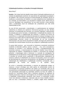Texto - A globalização economica e os desafios a form_profissional texto 4 vania 6° semestre