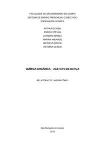 QUÍMICA ORGÂNICA – ACETATO DE BUTILA