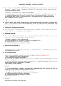 SIMULADOS JUNTOS DE PSICOLOGIA JURÍDICA