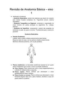 Resumo Anatomia - básico
