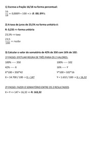MATEMÁTICA FINANCEIRA - AULA 02 - EXERCÍCIOS
