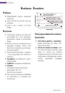 Parasitologia - resistencia parasitária