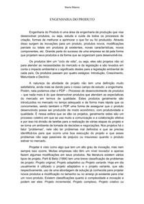 ENGENHARIA DO PRODUTO