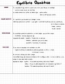Equilíbrio osmótico - osmolaridade e tonicidade