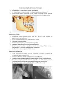 Resumo - Tumor Odontogênico Adenomatoide