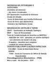 MEDIDAS DE INTERESSE E ATITUDES