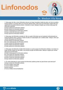 Questões de Anatomia Humana - Vasos Sanguíneos - Linfonodos - Anatomia Prática com Prof. Dr. Wedson Vila Nova