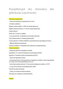 Fisiopatologia dos distúrbios das glândulas suprarrenais