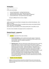 Anotações - Direito Penal I