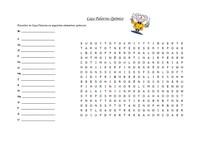 Jogos Pedagógicos - Caça Palavras Químico (difícil) - Elementos químicos e tabela periódica