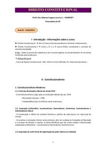 Constitucional - Anotações das aulas - Gabriel Montalvão
