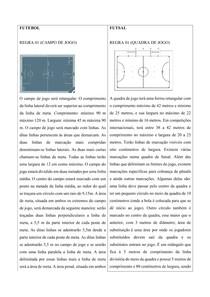Resumo - Regras Futebol e Futsal