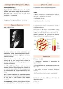 Resumo Fisiologia Renal - Eritropoetina (EPO)