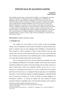 modelo IV ( Infancia e suas linguagens) 2