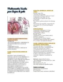 Medicamentos Usados para Angina do peito