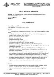 605bcd36dff2d0 Jogos de Alfabetização - Pedagogia - 6