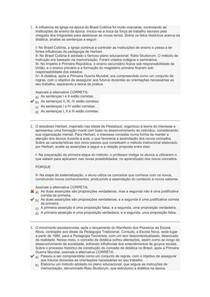 Currículo e Didática na Educação dos Surdos AVALIAÇÃO II