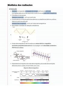 Anotações de aula - Biofísica das radiações