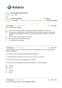 Av1_QUALIDADE DE SOFTWARE