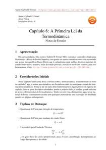Notas de Estudo do Capítulo 8 de Física II do Moyses