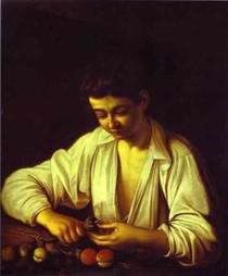 caravaggio - Boy Peeling uma fruta