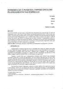 PAPER TERCEIRO SEMESTRE PLANEJAMENTO ORGANIZACIONAL