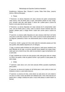 e910740240 Metodologia de Esportes Coletivos - Handebol - Metodologia do