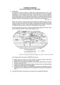 exercícios cartografia
