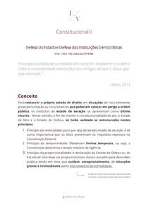 Estado de Sitio, Estado de Defesa e Segurança Pública - Constitucional II
