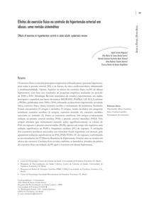 EFEITOS DO EXERCÍCIO FÍSICO NO CONTROLE DA HIPERTENSÃO ARTERIAL EM IDOSOS   ARTIGO DE REVISÃO (2)
