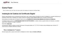 Como Fazer  Instalação de Cadeias de Certificado Digital
