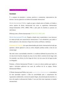 Resumo de Direito Internacional para OAB