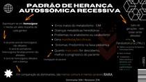PADRÃO DE HERANÇA AUTOSSÔMICA RECESSIVA
