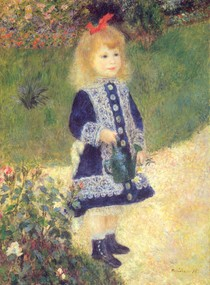 Pierre Auguste Renoir  - a_girl_with_a_watering_can