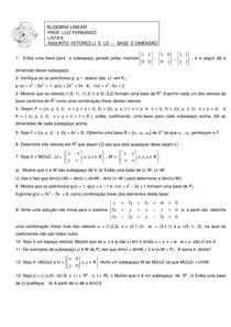 Algebra Linear - Luis Fernando - lista 6
