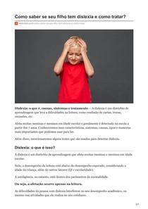 Como saber se seu filho tem dislexia e como tratar