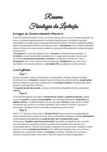 Resumo_ Fisiologia da Lactação