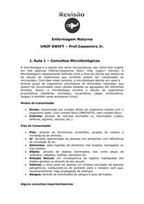 Resumo Prof Cassimiro   NP1+Questôes Respondidas UNIP ENFERMAGEM NOTURNO 3 semestre