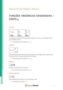 Funções orgânicas nitrogenadas - Resumo