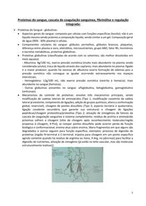 3 Proteínas do sangue, cascata de coagulação sanguínea, fibrinólise e regulação integrada